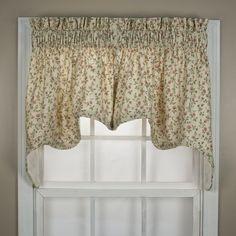 Cynthia Stripe Curtain, Valance by Ellis