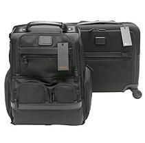 Tumi Alpha 2 Laptop Briefcase and 4 Wheeled Compact Brief Bundle