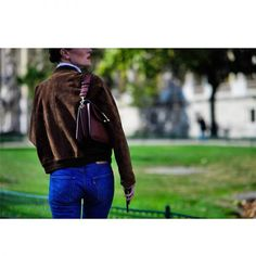 - Go classic by pairing asuede bomber with vintage Levis.