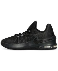 Nike Boys' Air Max Infuriate Basketball Sneakers from Finish Line - Black 3.5