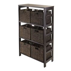 Amazing Winsome Wood 3-Shelf Wide Shelving Unit