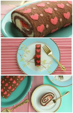 Learn how to make this unique Patterned Chocolate Cake Roll filled with Whipped Ganache. Click the image to watch the recipe video.