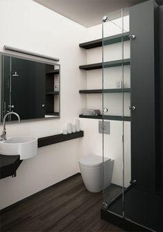 faience salles de bain noir et blanc