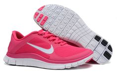 Womens Nike Free 4.0 V3 Pink Force White Shoes - Click Image to Close