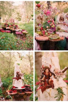 A faerie wedding designed by Tricia Fountaine, photography by Elizabeth Messina, cake by Decadence