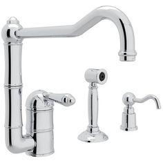 Rohl RAKIT36082LMWSAPC2 Country Kitchen Single Handle Kitchen Faucet - Chrome