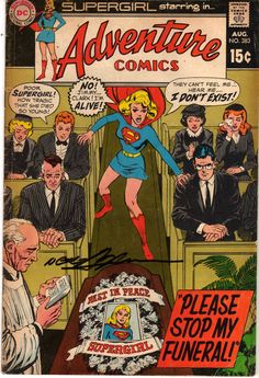 Adventure Comics Vol 1 # 383 (Signed by Cover Artist Neal Adams 4-8-17 at Great Philadelphia Comic Con)