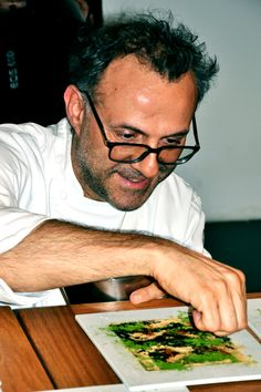 Massimo Bottura simply inspires me through his passion for food, and the emotion which he pours into it.