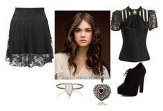 """""""looking for coffin"""" by alikat666 on Polyvore featuring Julie Wolfe, Dolce Giavonna and New Look"""