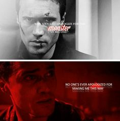 Why should I apologize for the monster I have become? Grant Ward tumblr #AoS #agentsofshield