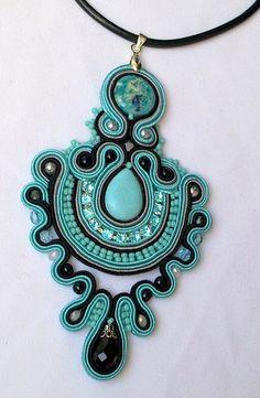 soutache - pendant   mishtiart.blogspot.com - follow me! :)