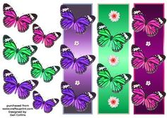 butterfly bookmarks 2 by Gail Collins