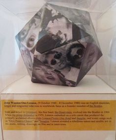 My hero John Lennon in an acetate box.