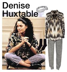 """""""Denise Huxtable,The Cosby Show"""" by themodernduchess ❤ liked on Polyvore featuring ATM by Anthony Thomas Melillo, Roberto Cavalli, Hansel from Basel, women's clothing, women's fashion, women, female, woman, misses and juniors"""