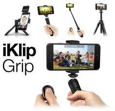 iKlip GRIP 4-in-1 multi-function Smartphone stand with bluetooth shutter #IKMultimedia