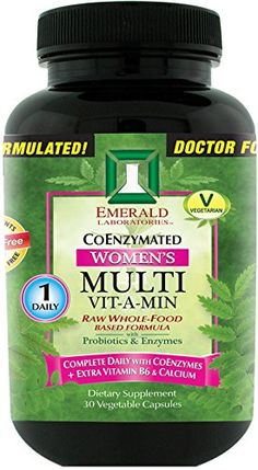 Emerald Laboratories  Womens Multi VitAMin 1Daily  Complete Daily with CoEnzymes  Extra Vitamin B6  Calcium  30 Vegetable Capsules * Read more  at the image link. (This is an affiliate link and I receive a commission for the sales)