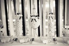 tall clear glass vases, apothecary jars, cookie jars like you mentioned...