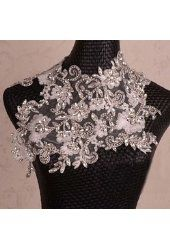 Sunshinesmile Bridal Wedding Lace Necklace Jewelry Crystal Rhinestone Shoulder Chain Strap