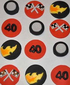 Items similar to Racing Motor Sports Fondant Cupcake or Cookie Toppers- Edible- 1 DOZEN on Etsy Fondant Cupcakes, Car Cupcakes, Cupcake Cakes, Race Car Birthday, Sports Party, Cupcake Toppers, Best Gifts, Cookie, Racing