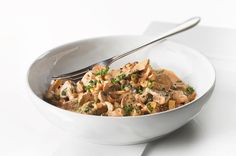 5:2 Recipe - Mushroom Stroganoff for tea tonight courtesy of recipe found online from the Mirror - only 90 calories!!