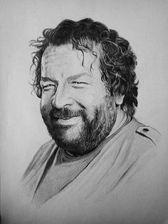 Bud Spencer by on DeviantArt Bud Spencer, Tv Star, Terence Hill, Black And White People, Westerns, Hollywood, Amazing Drawings, Comedians, Famous People