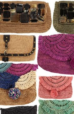 Raffia Clutches for summer