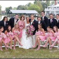 Lilly wedding, complete with lilly bouquets. haha.
