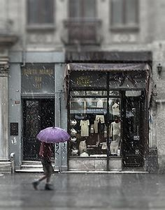 Istanbul underwear shop in the snow