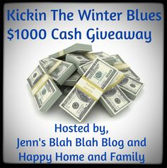 Don't miss your chance to #win MAJOR BUCKS 4 WINNERS! Enter our Kickin The Winter Blues $1000 Cash Giveaway (5 Winners)