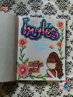 Notebook Art, Decorate Notebook, Milani, Diy And Crafts, Kawaii, Stamp, Lettering, Education, Drawings