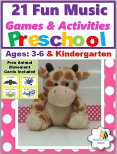 Browse over 100 educational resources created by Stucki Education Station in the official Teachers Pay Teachers store. Music Activities, Activity Games, Preschool Activities, Kindergarten Music, Kindergarten Lessons, Singing Games, Music Games, Animal Movement, Preschool Age