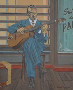 Image result for django reinhardt paintings Django Reinhardt, Paintings, Fictional Characters, Image, Art, Art Background, Paint, Painting Art, Kunst