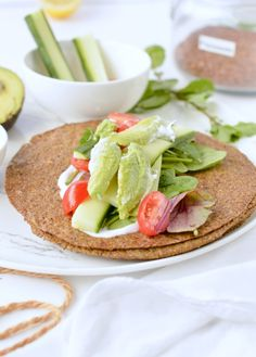 Flaxseed Wraps are NO carbs easy keto wraps recipe made with 4 ingredients. An easy protein wrap recipe to enjoy finger food while boosting your body with wholefoods. Vegan Recipes Videos, Healthy Recipes, Wrap Recipes, Whole Food Recipes, Cooking Recipes, Keto Vegan, Vegan Gluten Free, Paleo, Flax Seed Recipes