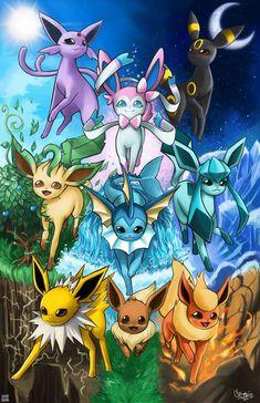 by PokuriMio on DeviantArt - Pokemon Fotos Do Pokemon, 3d Pokemon, Pokemon Eevee Evolutions, Pokemon Fan Art, Pokemon Ships, Pokemon Cards, Cool Pokemon Wallpapers, Pokemon Backgrounds, Cute Cartoon Wallpapers