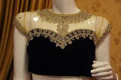 latest embroidery work blouse collection 2014   boutiquesarees.com