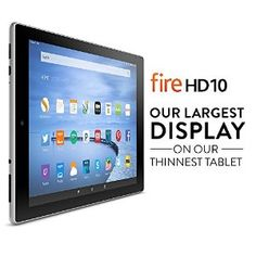 """Price:$229.99 Fire HD 10 Tablet, 10.1"""" HD Display, Wi-Fi, 16 GB - Includes Special Offers, Silver Aluminum"""
