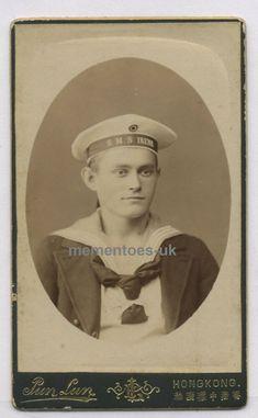Chatham Kent, China Hong Kong, Navy Sailor, Photo Grouping, Wwi, Photo Cards, German, Military, Portrait
