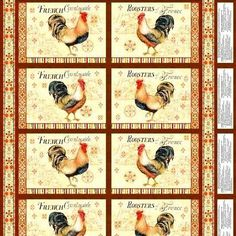 Bohemian Roosters French Country Place Mat Kit Makes 2 Place Mats  - product images  of