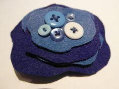 Blues   Felt Brooch by HERTrinkets on Etsy, $7.00