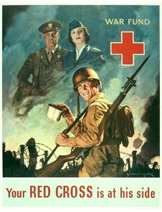 Vintage WWII Red Cross poster