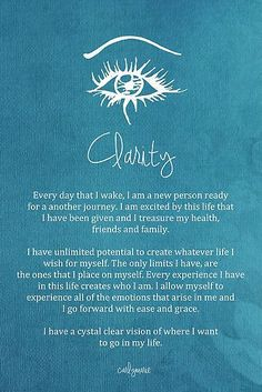 Affirmation - Clarity by CarlyMarie More