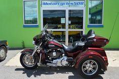 Used 2014 Harley-Davidson Trike Tri Glide Ultra Classic FLHTCUTG for Sale in Brockton MA 02301 Motorcycles 508 #harleydavidsontrikeforsale