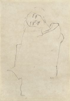 Girl with Tilted Head – Egon Schiele