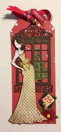 xmas tag with Tasha Prima doll