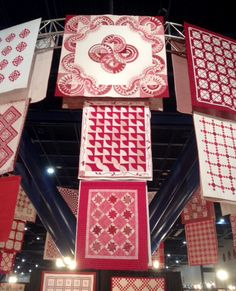 These were some of the quilts displayed at the Quilt Market in Houston, Texas. #40yearsofquilting #RubyJubilee