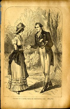 An illustration by John Proctor in an 1887 edition of Pride and Prejudice.