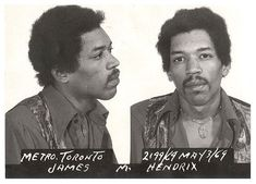 Jimi Hendrix, 1969 Toronto, ON Char. Jimi Hendrix, 1969 Toronto, ON Charge: drug possession Christian Slater, Chris Tucker, Ozzy Osbourne, Janis Joplin, Keith Richards, Steve Mcqueen, Mike Tyson, Lil Wayne, Keanu Reeves