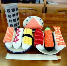 Sushi! Oh wait, these are actually Socks made to look like sushi when folded. http://asahi.com
