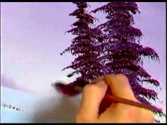 Bob Ross - Painting Purplish Pine Tree - Painting Video