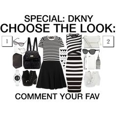 Choose the look #29 by grapefashion on Polyvore featuring polyvore, moda, style, DKNY, blackandwhite, dkny, polyvoreeditorial and choosethelook
